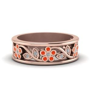Orange Topaz Band For Women
