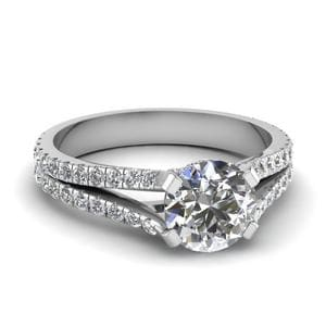 1.50 Carat Diamond Split Shank Ring