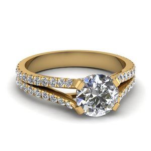 1.50 Carat Pave Split Shank Ring