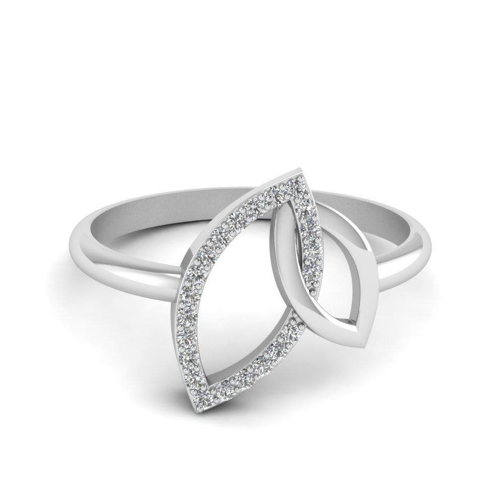 Marquise Interlocked Diamond Ring