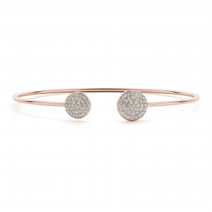 14K Rose Gold Open Bangle Bracelet