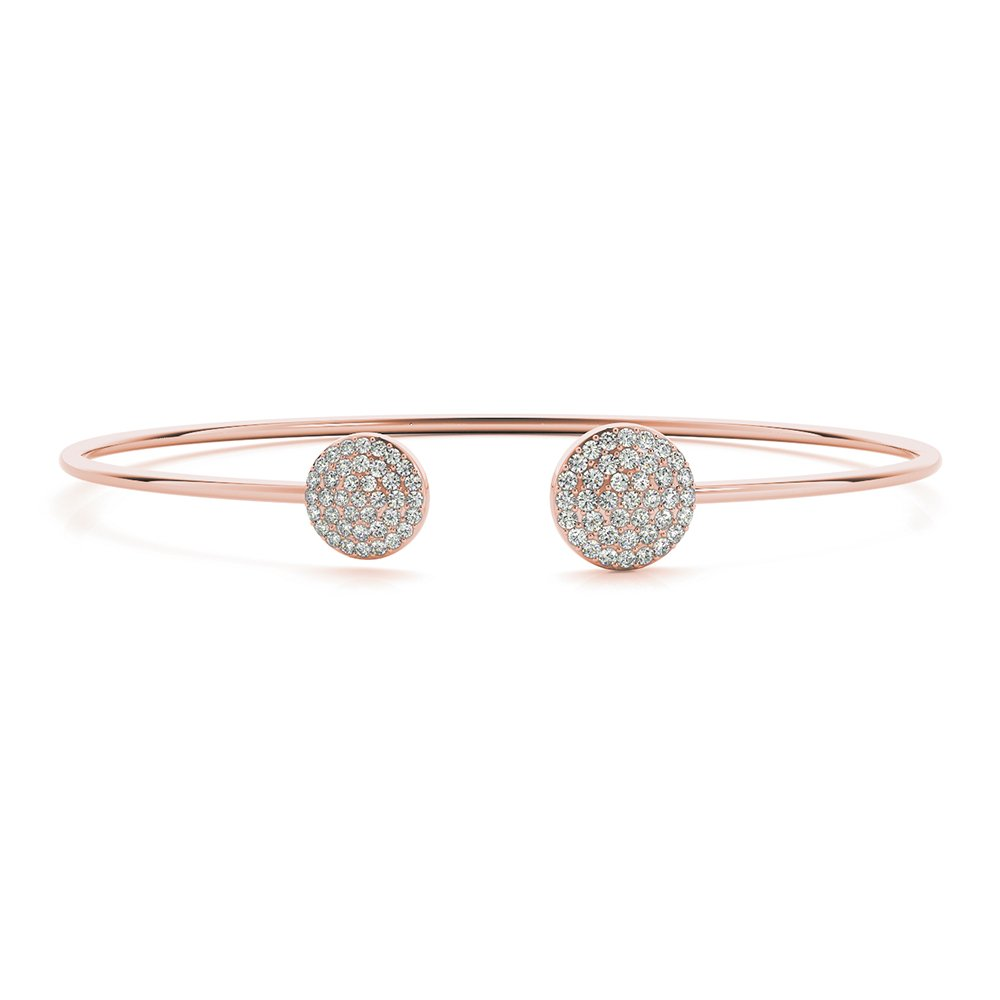 18K Rose Gold Diamond Bracelet