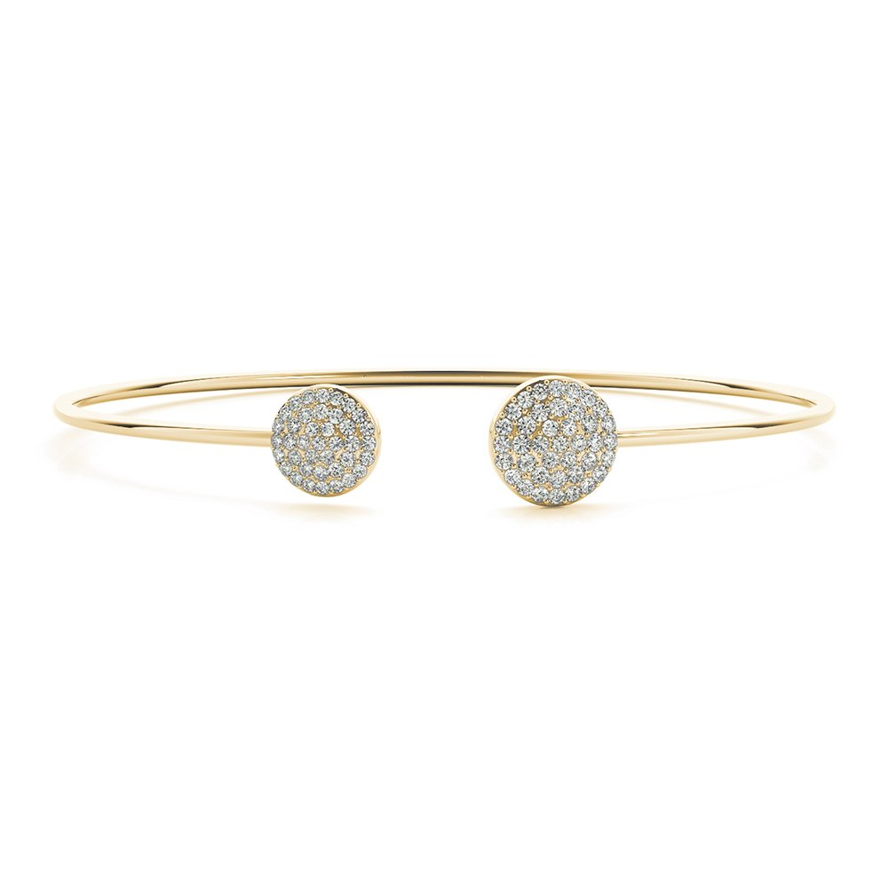 gold round out the white bracelets bangle stunning pave day with bangles diamond night this solid bracelet into