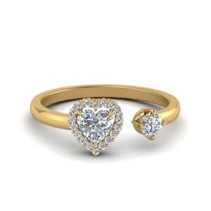 Open Wrap Heart Diamond Ring
