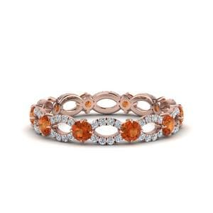 Orange Sapphire 1.50 Ct. Anniversary Ring
