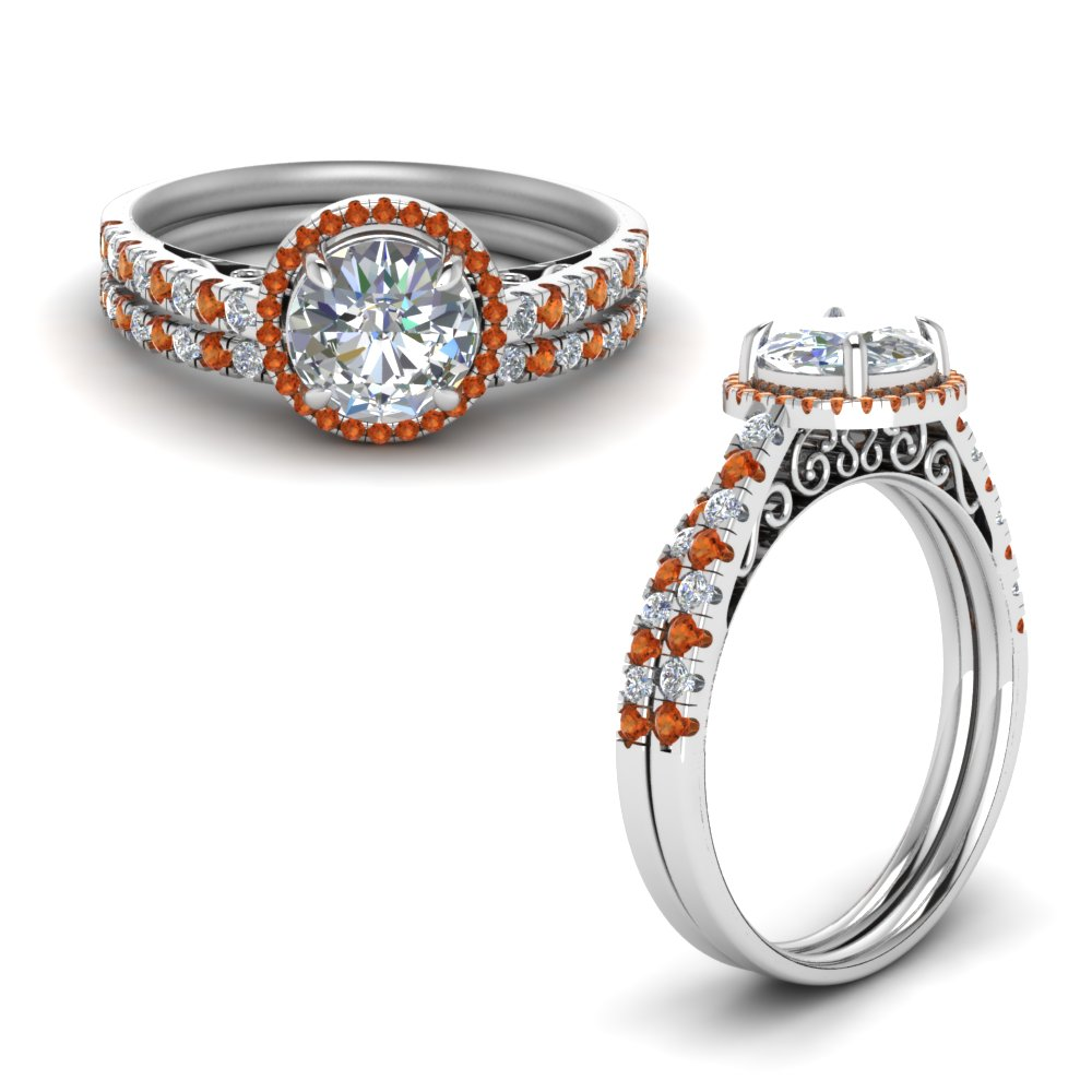 18k White Gold Ring Set