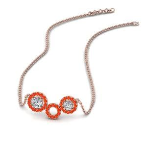 Orange Topaz Pendant Necklace