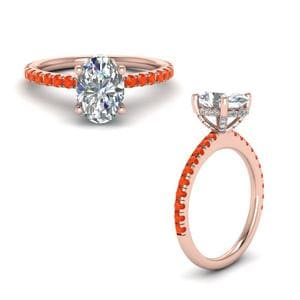 High Set Orange Topaz Ring