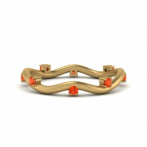 Gold Orange Topaz Band