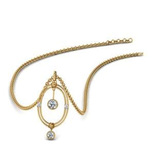 Oval Design Pendant With Diamonds