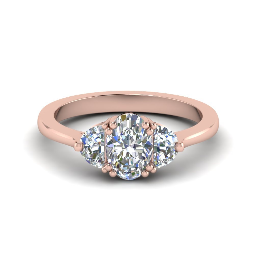 18k Rose Gold Engagement Ring