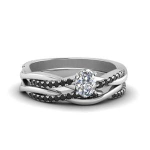 Platinum Black Diamond Bridal Set