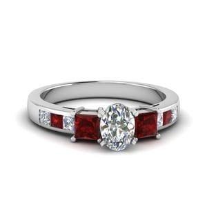3 Stone Channel Ruby Ring