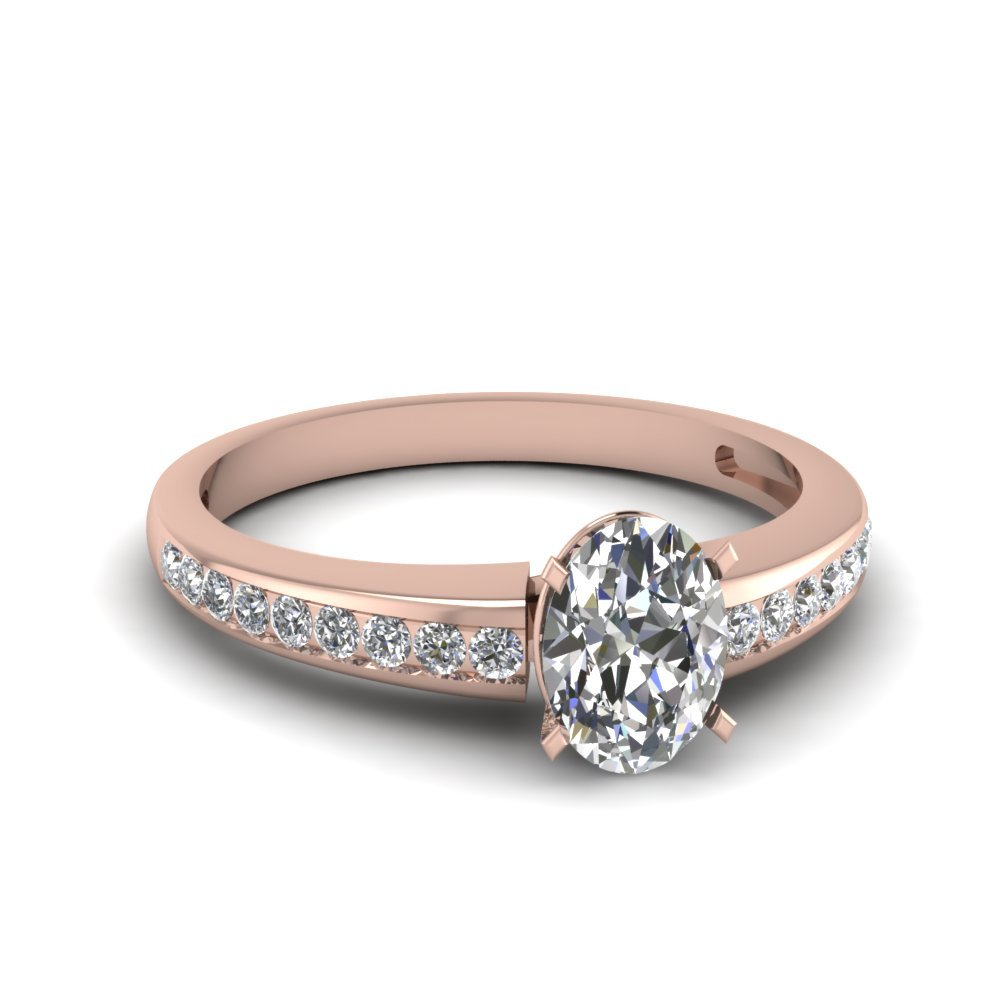 Oval diamond rings