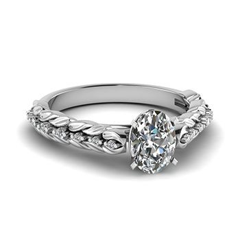 0.50 Ct. Oval Cut Diamond Engagement Rings