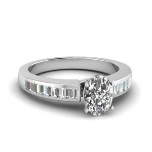 Oval Diamond Channel Set Ring