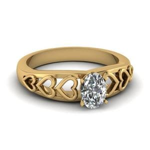 Oval Shaped Single Solitaire Ring