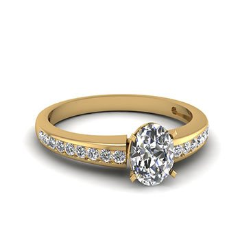 Shop Oval Shaped Diamond Rings