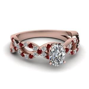 Rose Gold Ruby Infinity Ring