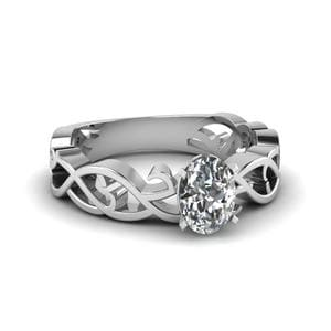 Oval Shaped Solitaire Vintage Ring