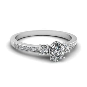 Delicate 3 Stone Diamond Ring