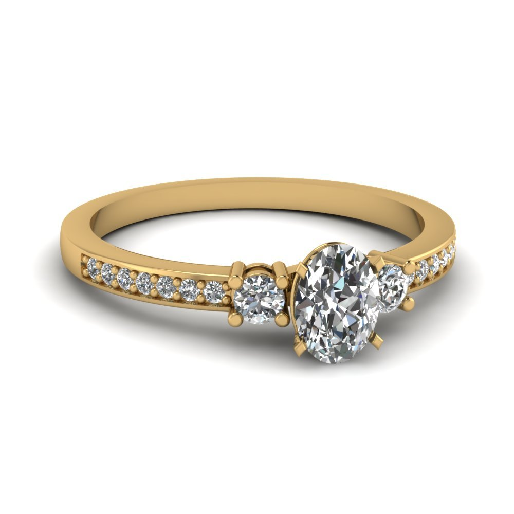 Classic Oval Diamond Traditional Ring