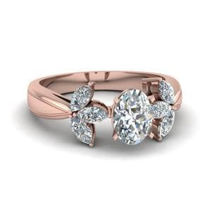 Floral Marquise Diamond Ring