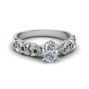 Emerald Oval Diamond Ring