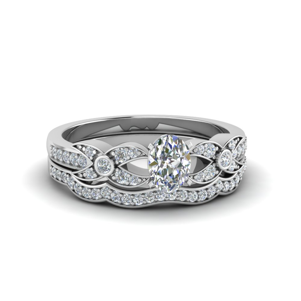 Oval Shaped Wedding  Set