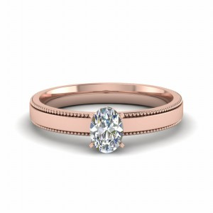 Oval Diamond 18k Rose Gold Ring