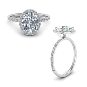 Oval Diamond Ring With Halo