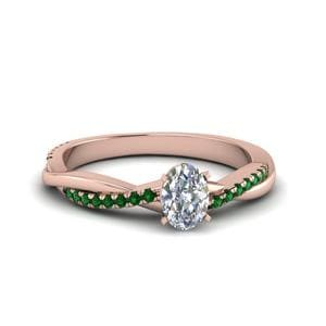 Braided Oval Diamond Ring