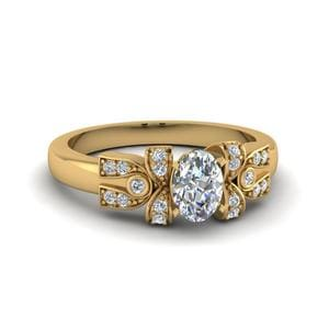 Pave Antique Looking Diamond Ring