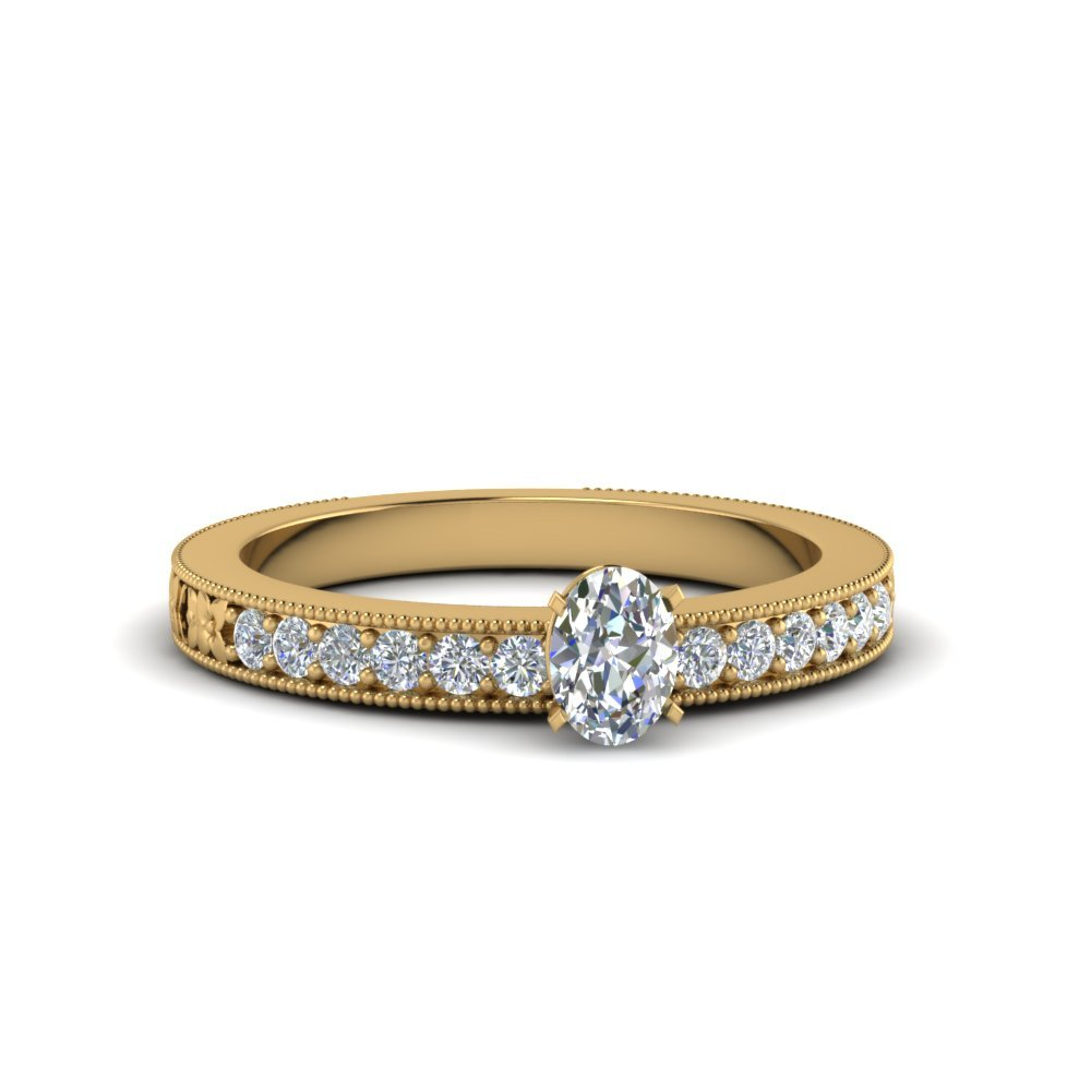 Oval Shaped Pave Diamond Ring