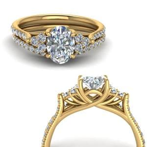 Petite Cathedral Wedding Ring Set