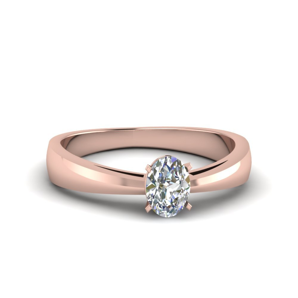 Oval Shaped Solitaire Engagement Rings