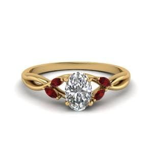 Ruby Twisted Petal Diamond Ring