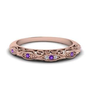 Paisley Purple Topaz Wedding Band