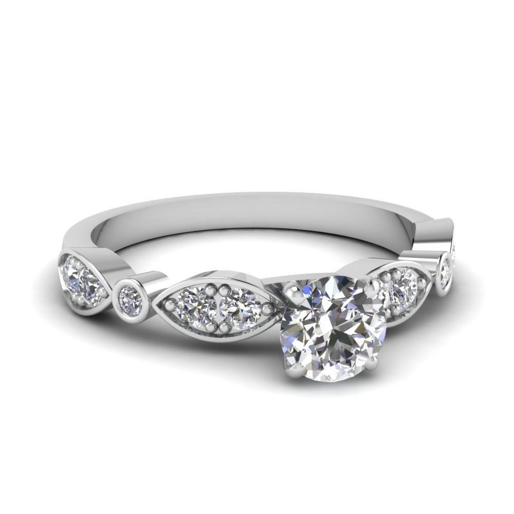 Pave And Bezel Diamond Ring