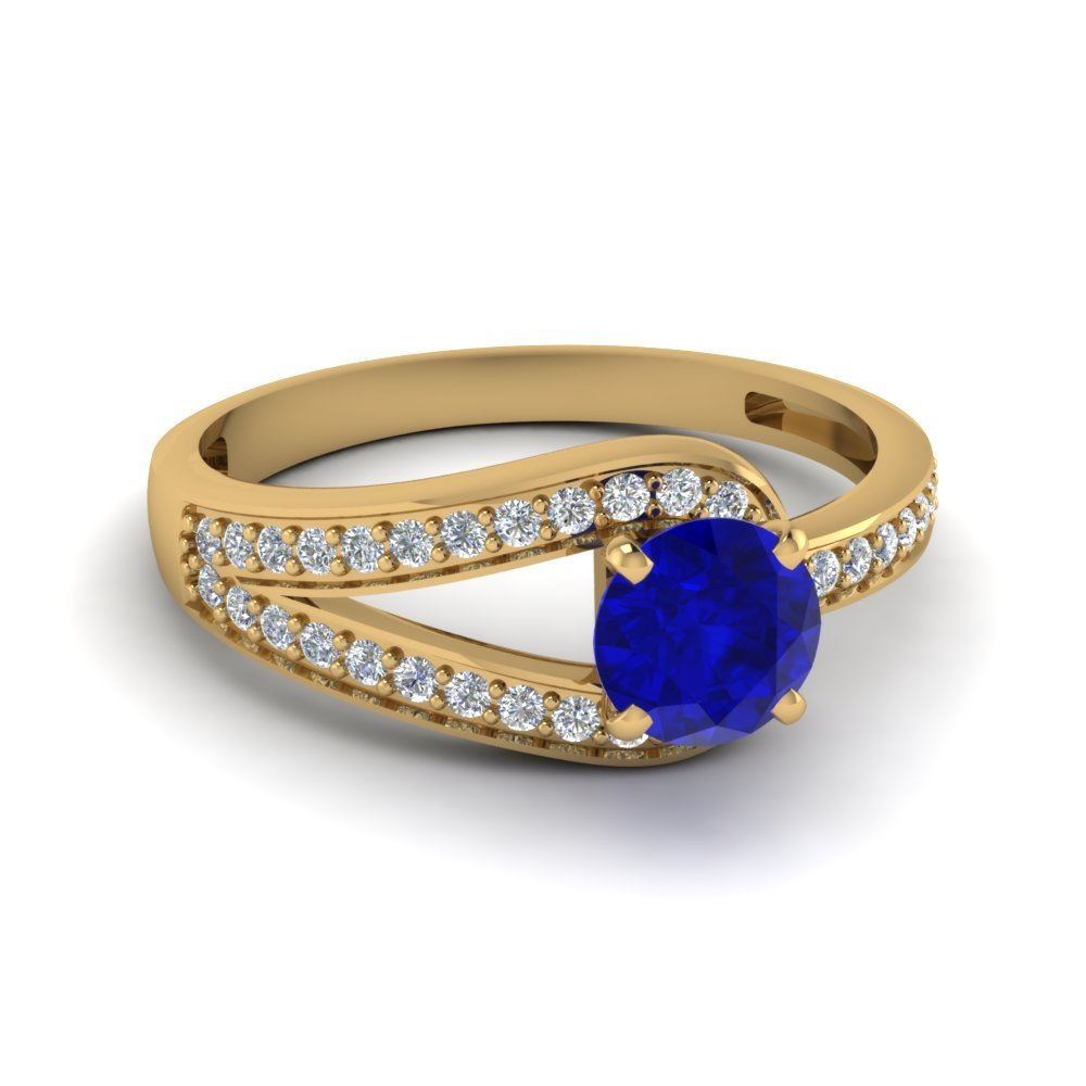 Pave Antique Sapphire Ring