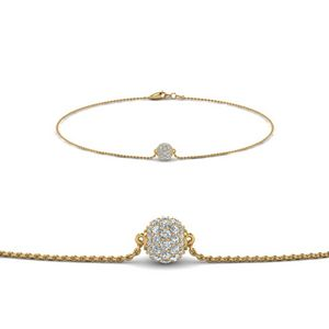 Pave Ball Diamond Chain Bracelet