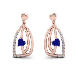 Sapphire Pave Drop Earring