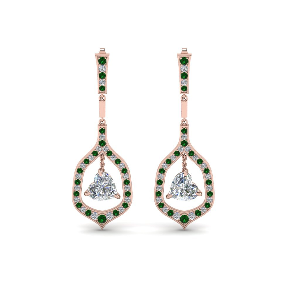 Emerald Hanging Drop Earrings