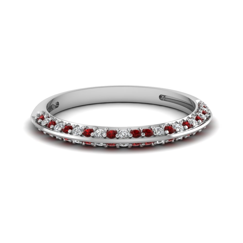 Pave Ruby Wedding Band