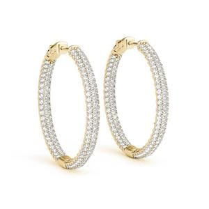 Pave Inside Out Hoop Earrings