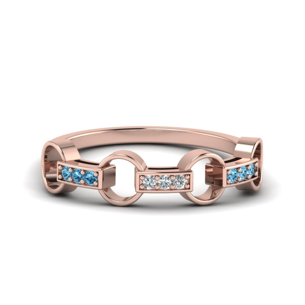 Pave Linked mothers Diamond Band