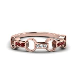 Pave Linked Diamond Band