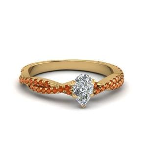 Pear Shaped Braided Diamond Ring