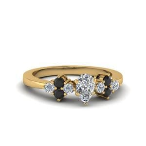 Cluster Pear Shaped Ring