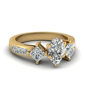 Pear Shaped Accent Diamond Ring